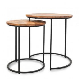Кофейный столик лофт набор ИНДУ ГУЛАБИ