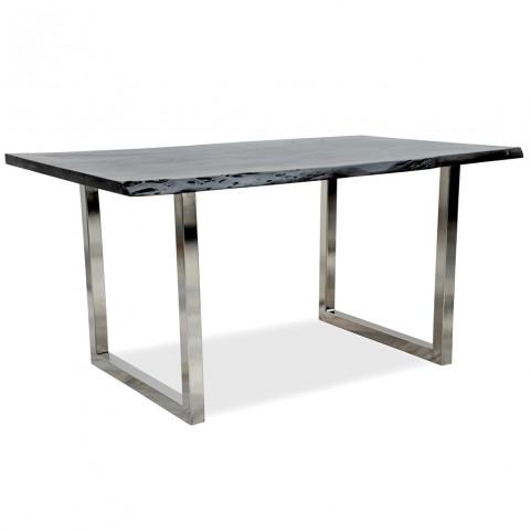 Стол из массива,  ДЖИВАН platinum silver